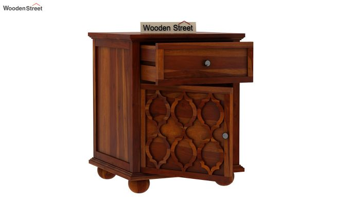 Montana Bedside Table (Honey Finish)-3