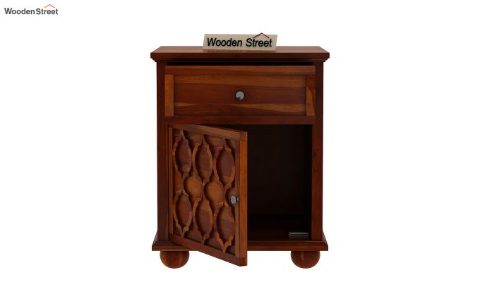Montana Bedside Table (Honey Finish)-4