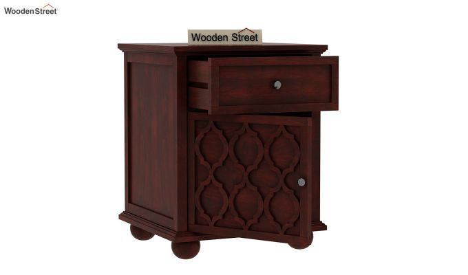 Montana Bedside Table (Mahogany Finish)-3