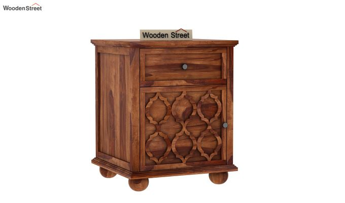 Montana Bedside Table (Teak Finish)-1