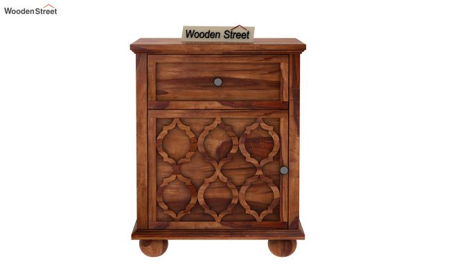 Montana Bedside Table (Teak Finish)-2