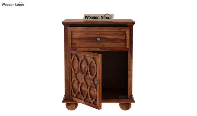 Montana Bedside Table (Teak Finish)-4