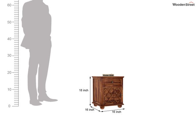 Montana Bedside Table (Teak Finish)-5