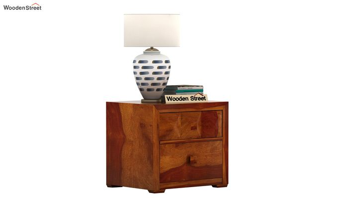 Morse Bedside Table (Honey Finish)-1