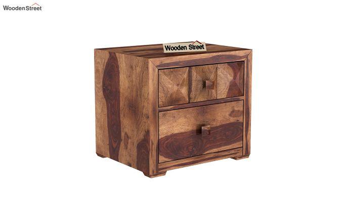 Morse Bedside Table (Teak Finish)-2