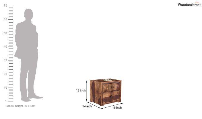 Morse Bedside Table (Teak Finish)-5