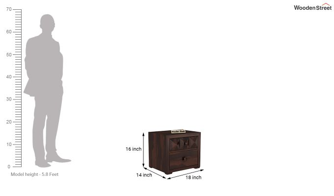 Morse Bedside Table (Walnut Finish)-5