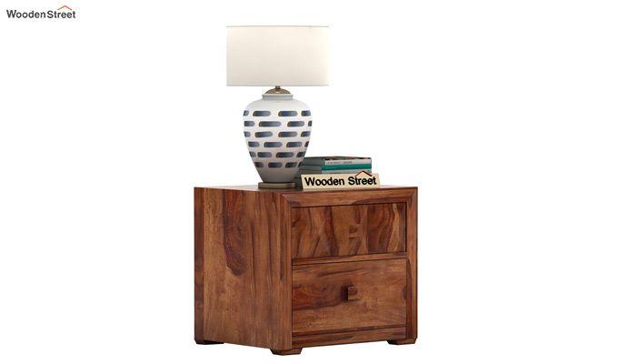 Morse Bedside Table (Teak Finish)-1