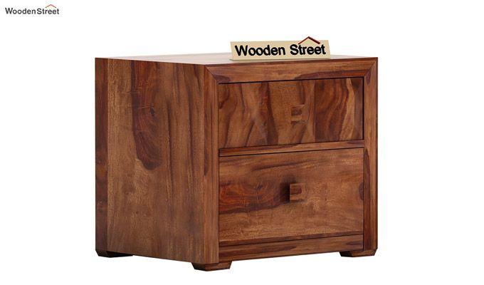Morse Bedside Table (Teak Finish)-3