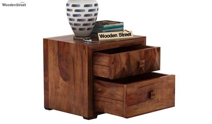 Morse Bedside Table (Teak Finish)-4