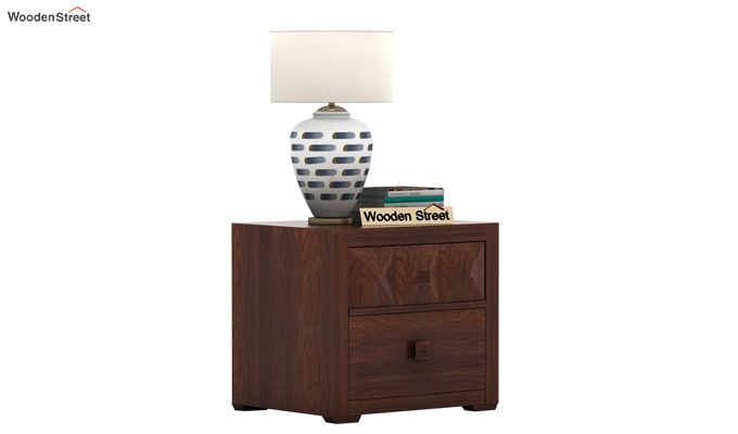 Morse Bedside Table (Walnut Finish)-2
