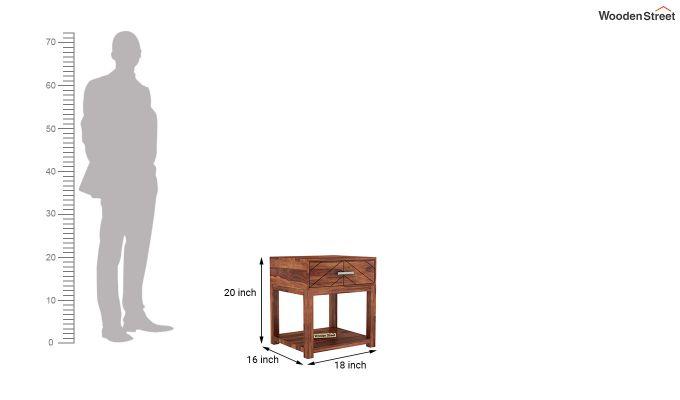 Neeson Bedside Table (Honey Finish)-5