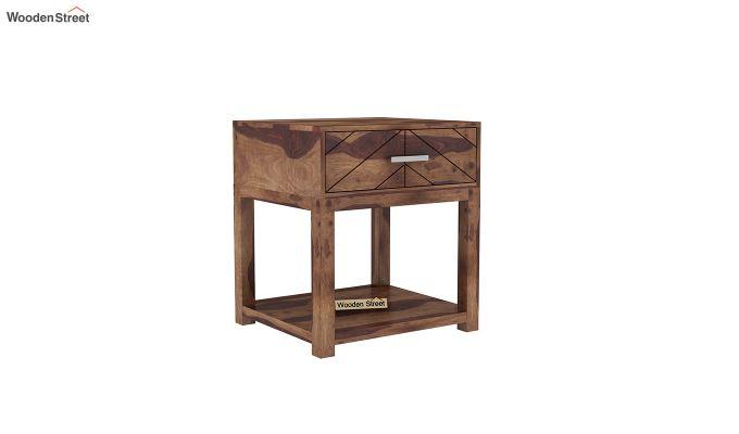 Neeson Bedside Table (Teak Finish)-2