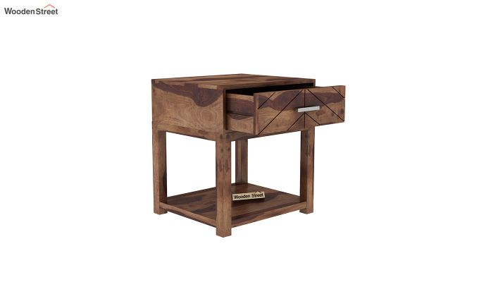 Neeson Bedside Table (Teak Finish)-4
