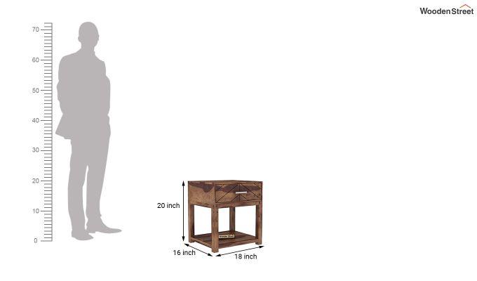 Neeson Bedside Table (Teak Finish)-5