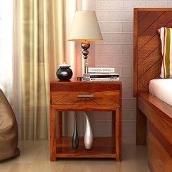 Neeson Bedside Table (Honey Finish)