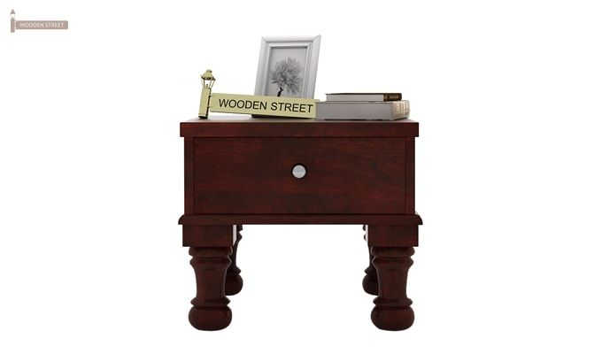 Noha Bedside Table (Mahogany Finish)-2