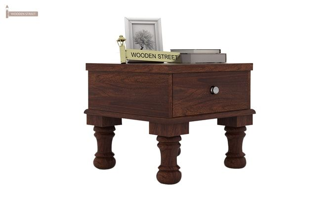Noha Bedside Table (Walnut Finish)-2