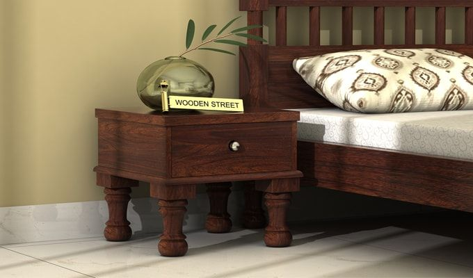 Noha Bedside Table (Walnut Finish)-1