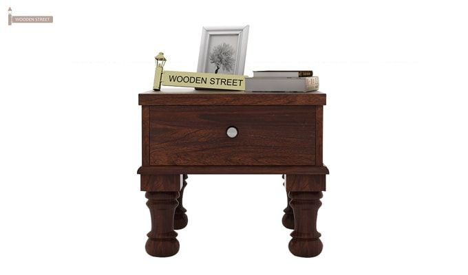 Noha Bedside Table (Walnut Finish)-3