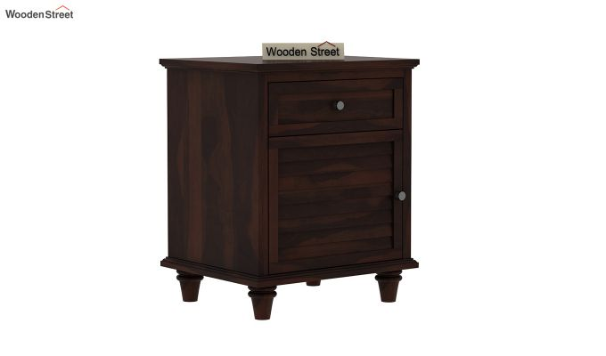Nordic Bedside Table  (Walnut Finish)-2