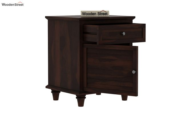 Nordic Bedside Table  (Walnut Finish)-4
