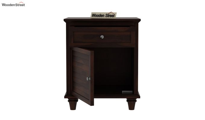 Nordic Bedside Table (Walnut Finish)-5
