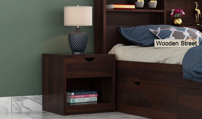 Oretta Bedside Table (Walnut Finish)-1