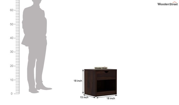 Oretta Bedside Table (Walnut Finish)-6
