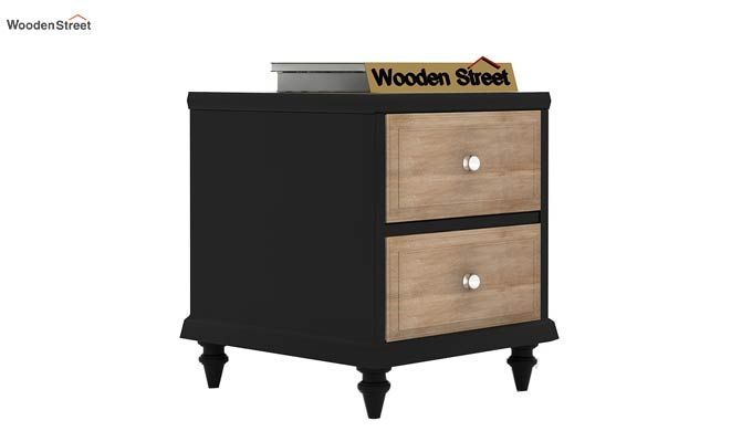 Oriental Bedside Table (Black Finish)-2