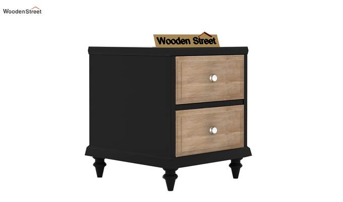 Oriental Bedside Table (Black Finish)-4
