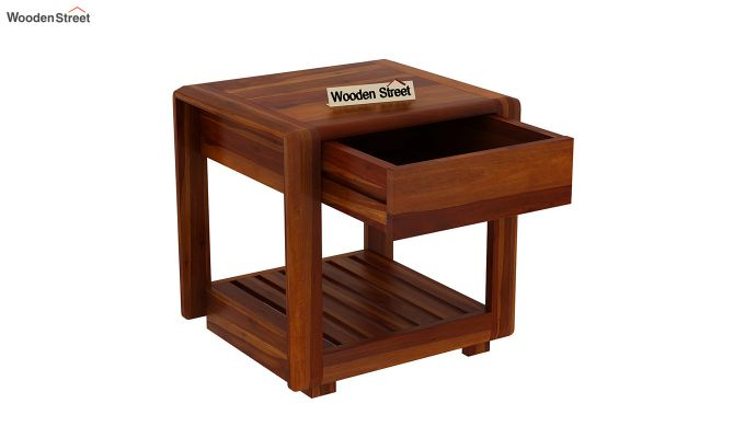 Oswald Bedside Table (Honey Finish)-4
