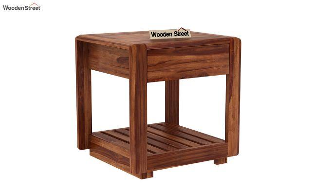 Oswald Bedside Table (Teak Finish)-2