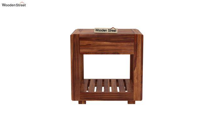 Oswald Bedside Table (Teak Finish)-3