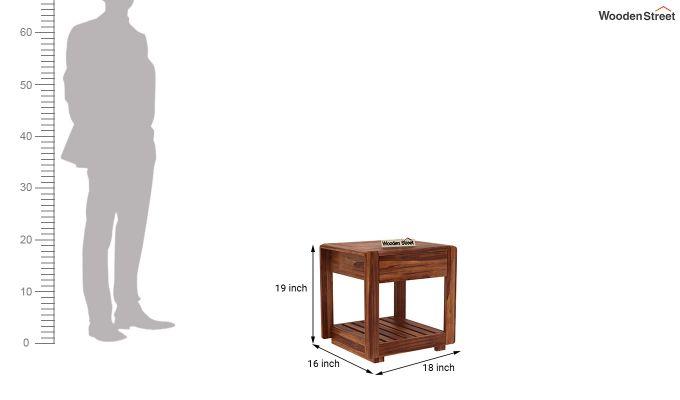 Oswald Bedside Table (Teak Finish)-5