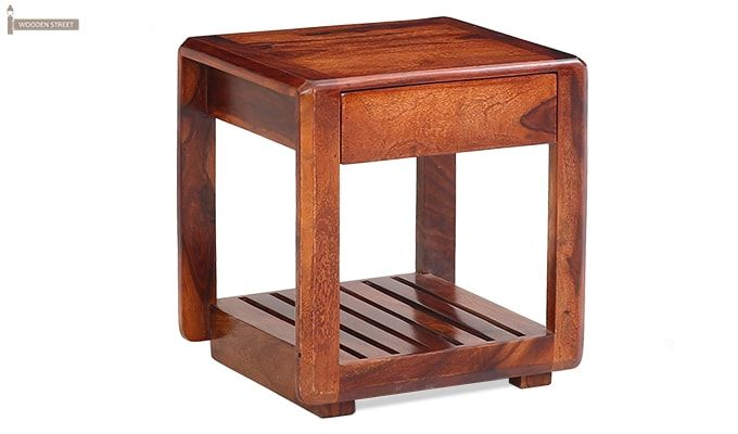 Oswald Bedside Table (Teak Finish)-1