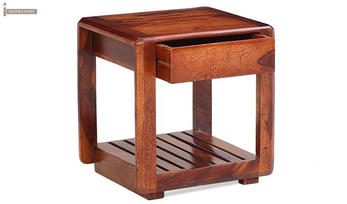 Oswald Bedside Table (Teak Finish)-2