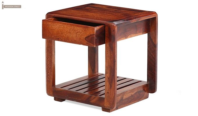 Oswald Bedside Table (Teak Finish)-4