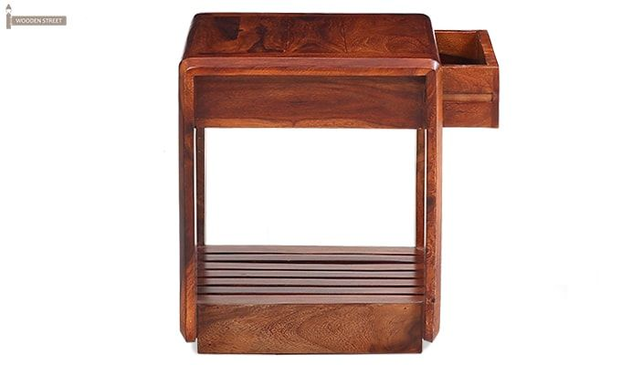 Oswald Bedside Table (Teak Finish)-5