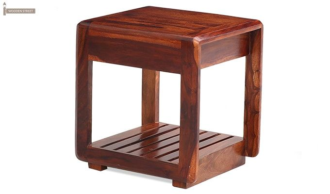 Oswald Bedside Table (Teak Finish)-6