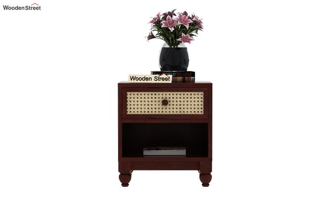 Palm Bedside Table (Mahogany Finish)-2