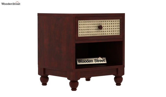 Palm Bedside Table (Mahogany Finish)-3
