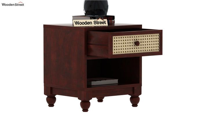 Palm Bedside Table (Mahogany Finish)-4