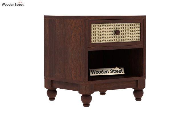 Palm Bedside Table (Walnut Finish)-4