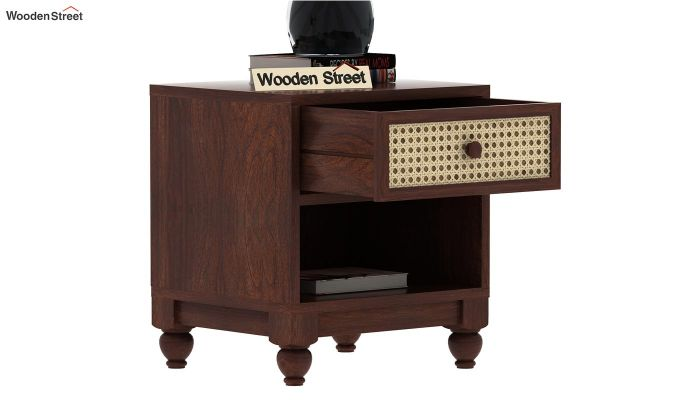 Palm Bedside Table (Walnut Finish)-5