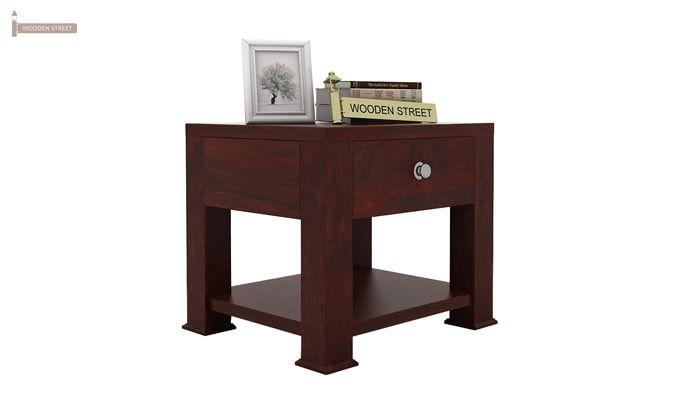Pamero Bedside Table (Mahogany Finish)-1