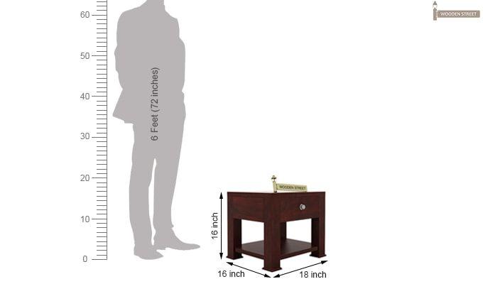 Pamero Bedside Table (Mahogany Finish)-5
