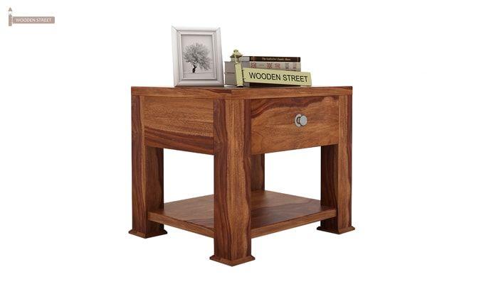 Pamero Bedside Table (Teak Finish)-1