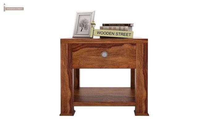 Pamero Bedside Table (Teak Finish)-2
