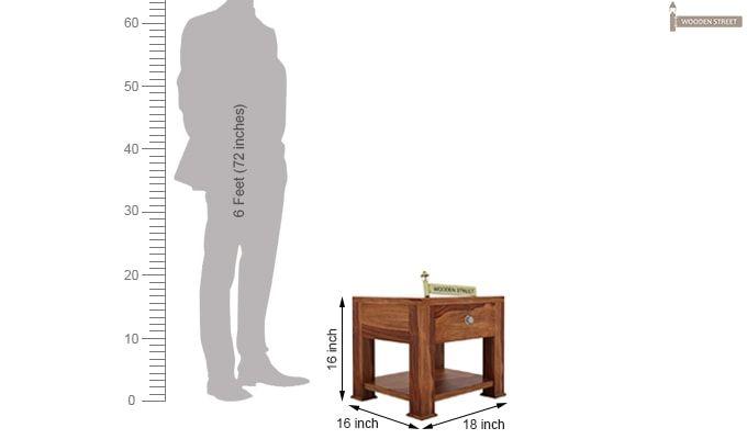Pamero Bedside Table (Teak Finish)-5